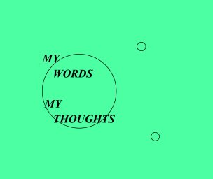 My Words, My Thoughts book cover