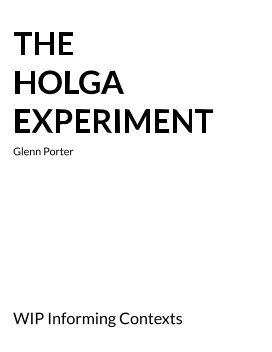 The Holga Experiment book cover