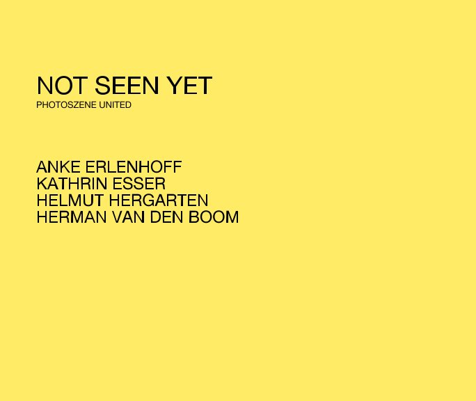 Not seen yet nach ANNE KOTZAN anzeigen