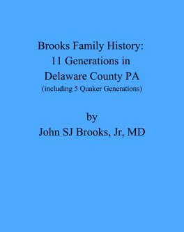 Brooks Family History book cover