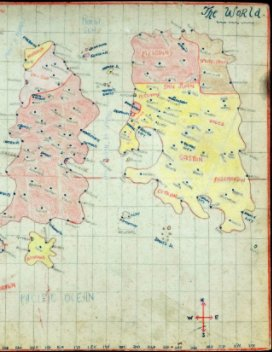 Maps and lists of the administrations of the imaginary countries. book cover