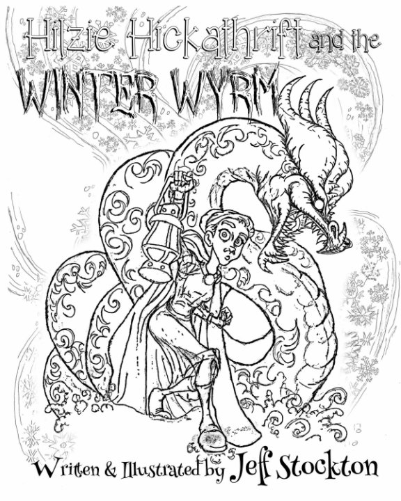 View Black and White Hilzie Hickathrift and The Winter Wyrm by Jeff Stockton