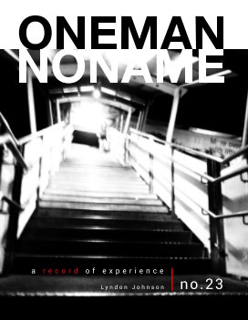 oneman noname - a record of experience 23 book cover
