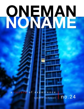 oneman noname - a record of experience 24 book cover