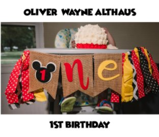 Oliver's 1st Birthday book cover