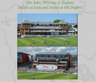 2013 Ashes tour of England book cover