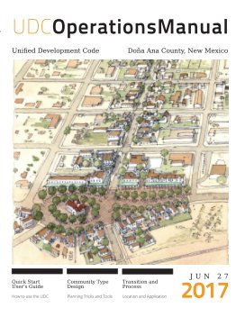 Doña Ana County Unified Development Code Operations Manual book cover