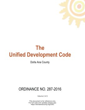 Doña Ana County Unified Development Code Volume 2 book cover