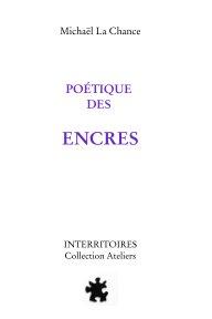 Poétique des encres book cover
