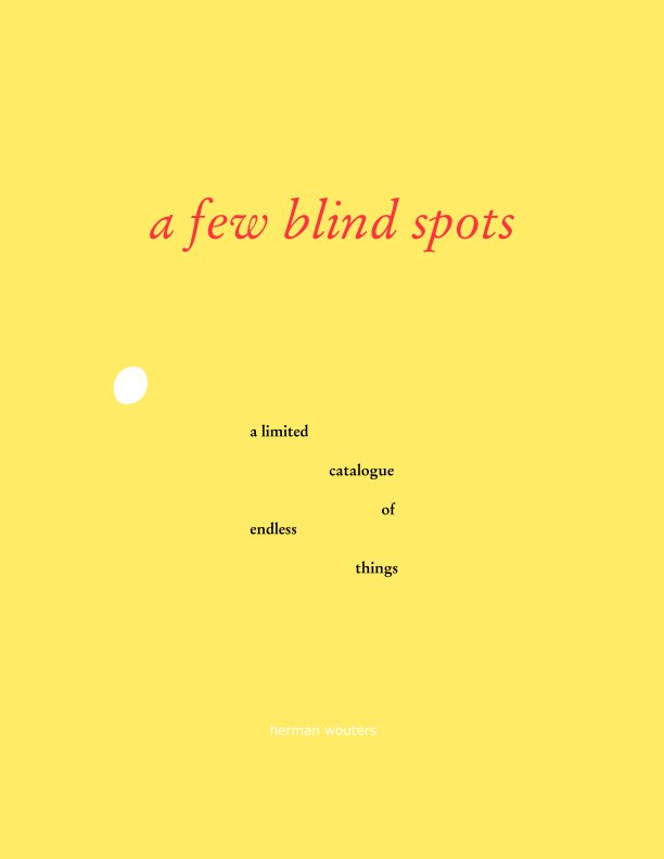 View a few blind spots by herman wouters
