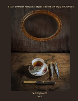 still life with empty frame book cover