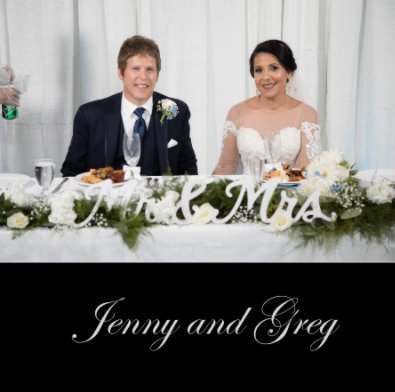 Jenny and Greg Wedding Album book cover