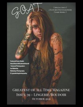 GOAT Issue 39 Lingerie Boudoir book cover