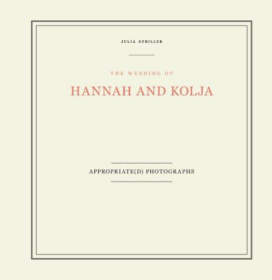 View HANNAH AND KOLJA by Julia Schiller