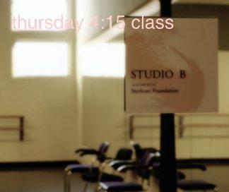 thursday 4:15 class book cover