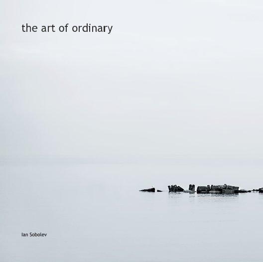 View the art of ordinary by Ian Sobolev