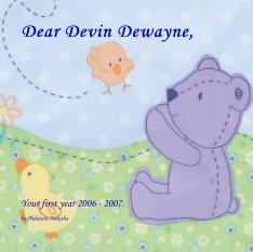 Dear Devin Dewayne, book cover
