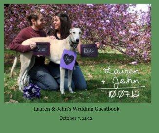 Lauren + John's Wedding Guestbook book cover