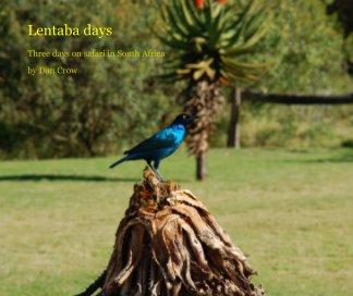 Lentaba days book cover