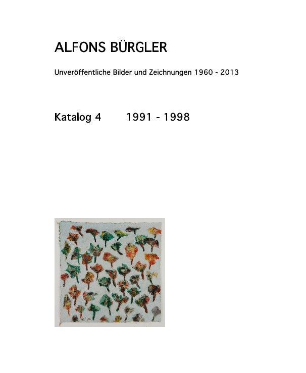 Katalog 4 nach ALFONS BÜRGLER anzeigen