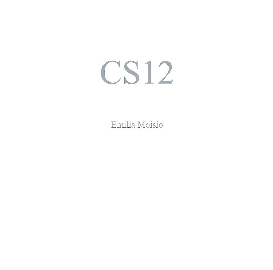 View CS12 by Emilia Moisio