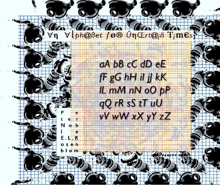 View An Alphabet for Uncertain Times by E.L.Rosenblum/P.J.Noble