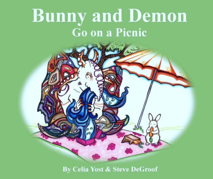 """View Bunny and Demon Go on a Picnic (10""""x8"""") by Celia Yost & Steve DeGroof"""