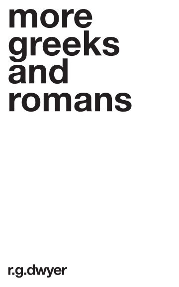View More Greeks And Romans by R G Dwyer by Nick Garner